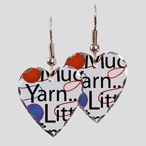 So Much Yarn Earring Heart Charm