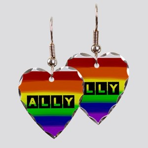 ALLY gay rainbow art Earring Heart Charm
