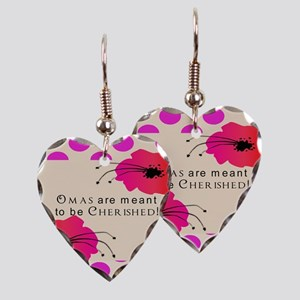 Oma Grandmother Earring Heart Charm