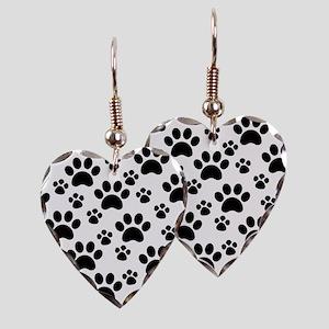 Dog Paws Earring Heart Charm