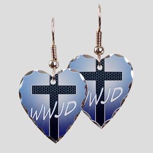 WWJD Earring Heart Charm