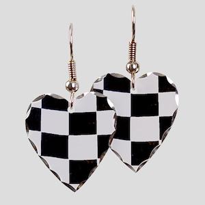 Checkered Flag Earring