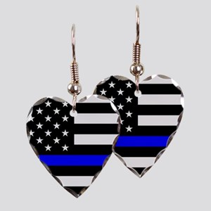 Police: Black Flag & The Thin Blue Line Earring