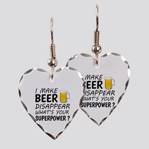 I Make Beer Disappear Earring Heart Charm