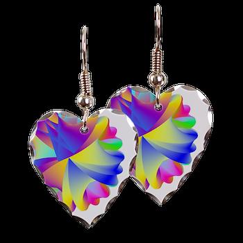 Rainbow Cluster Earring