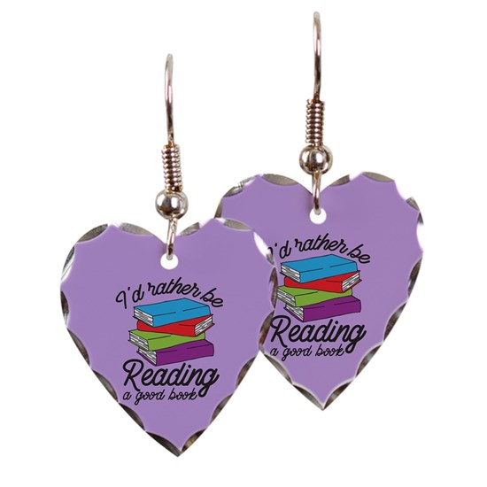 Reading Earrings: I'd Rather Be Reading Earring By Cpwm3