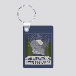 Sigma Alpha Epsilon Mounta Aluminum Photo Keychain
