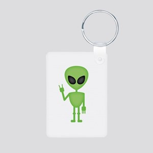 Aliens Rock Aluminum Photo Keychain
