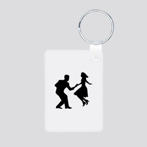 Swing dancing Aluminum Photo Keychain