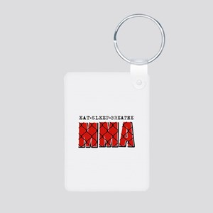 Eat Sleep MMA Aluminum Photo Keychain