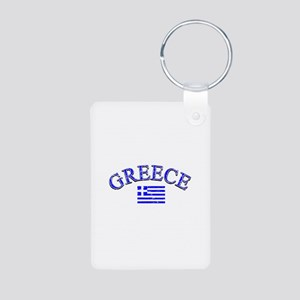 Greece Soccer Designs Aluminum Photo Keychain