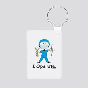 Surgeon Aluminum Photo Keychain