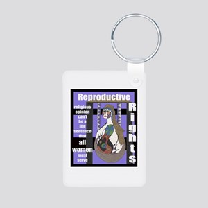 Reproductive Rights Aluminum Photo Keychains