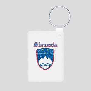 Slovenia Coat of arms Aluminum Photo Keychain