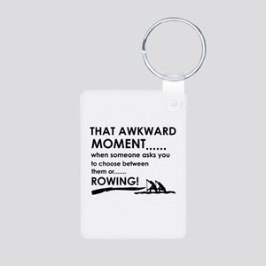 Awkward moment rowing designs Aluminum Photo Keych
