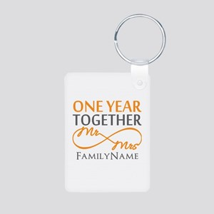 Gift For 1st Wedding Anniv Aluminum Photo Keychain