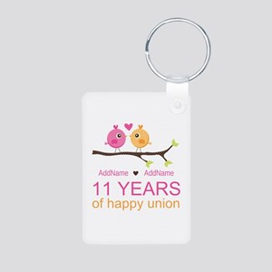 11th Anniversary Personali Aluminum Photo Keychain