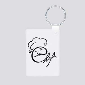 Chef Aluminum Photo Keychain