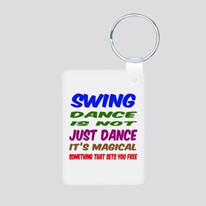 Swing dance is not just da Aluminum Photo Keychain
