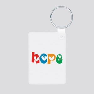 Hope_4Color_1 Aluminum Photo Keychain