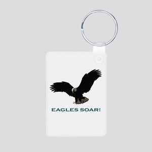 Eagles Soar! Aluminum Photo Keychain
