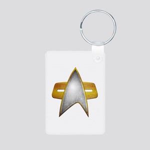 Distressed Starfleet Comm Badge Aluminum Photo Key