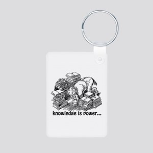 Knowledge is Power Aluminum Photo Keychain