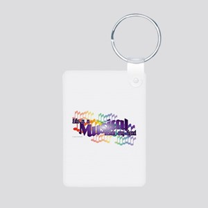 Life is a Musical Aluminum Photo Keychain