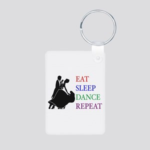 Eat Sleep Dance Aluminum Photo Keychain