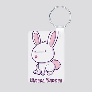 Honey Bunny Aluminum Photo Keychain