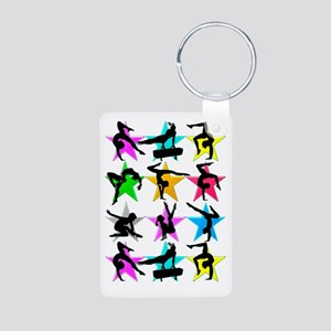 SUPER STAR GYMNAST Aluminum Photo Keychain