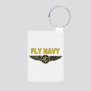 US Navy Aircrew Aluminum Photo Keychain