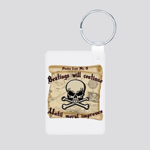 Pirates Law #8 Aluminum Photo Keychain