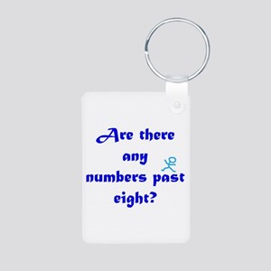 Numbers Past Eight Aluminum Photo Keychain