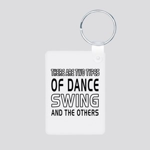 Swing Dance Designs Aluminum Photo Keychain