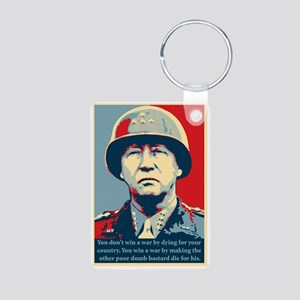 General George S. Patton Aluminum Photo Keychain
