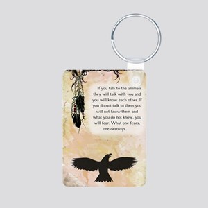 nativeamerican_journal_eag Aluminum Photo Keychain