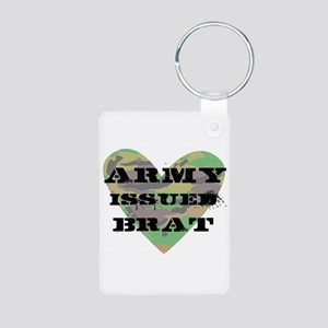 Army Issued Brat Aluminum Photo Keychain