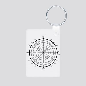 Math Geek Unit Circle Aluminum Photo Keychain