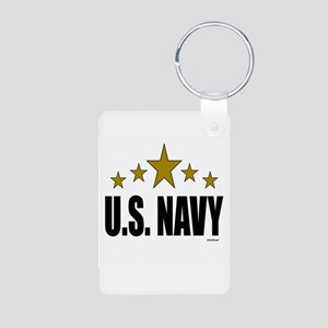 U.S. Navy Aluminum Photo Keychain
