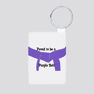 Proud to be a Purple Belt Aluminum Photo Keychain
