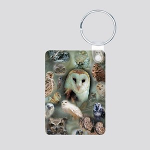 Happy Owls Aluminum Photo Keychain