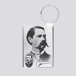 Wyatt Earp / Doc Holliday Aluminum Photo Keychain