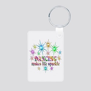Dancing Sparkles Aluminum Photo Keychain
