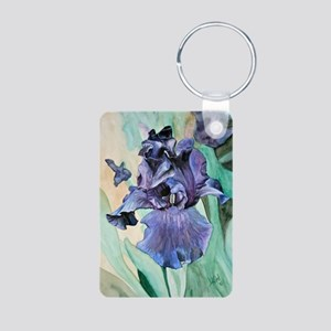 iris painting Aluminum Photo Keychain