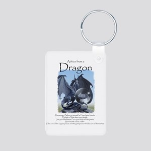 Advice from a Dragon Aluminum Photo Keychain