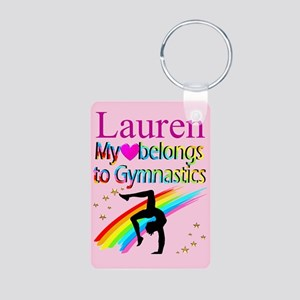 GYMNAST FOREVER Aluminum Photo Keychain