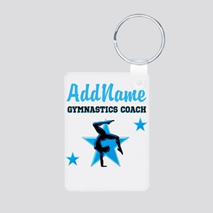 GYMNAST COACH Aluminum Photo Keychain
