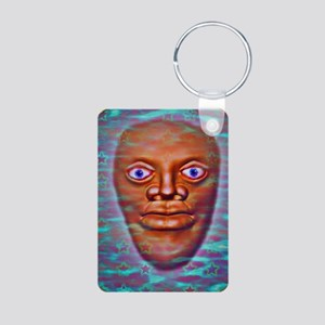 StarMan Aluminum Photo Keychain