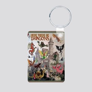 There Be Dragons Aluminum Photo Keychain Keychains